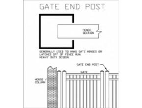 6 ft Heavy Duty Gate End Post