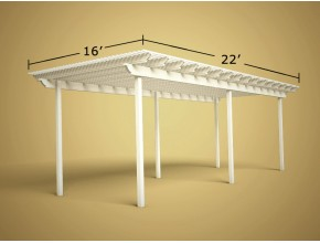 16 ft x 22 ft Economy Aluminum Pergola