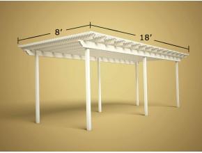 8 ft x 18 ft Economy Aluminum Pergola