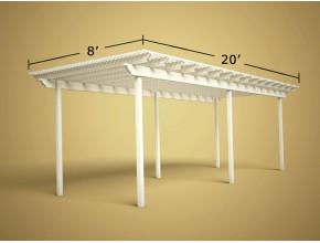 8 ft x 20 ft Economy Aluminum Pergola