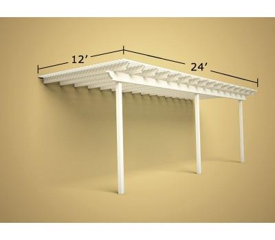 12 ft x 24 ft Economy Aluminum Pergola