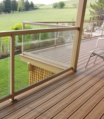 Frameless glass railing options